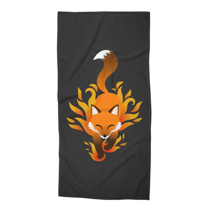 Fire Fox Accessories Beach Towel by Designs by WoollyRex