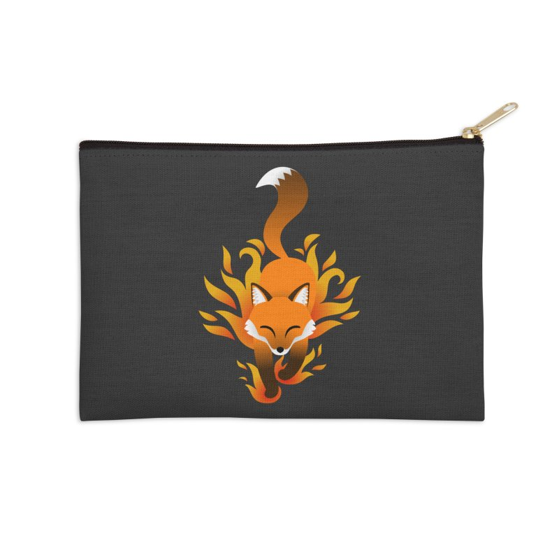 Fire Fox Accessories Zip Pouch by Designs by WoollyRex