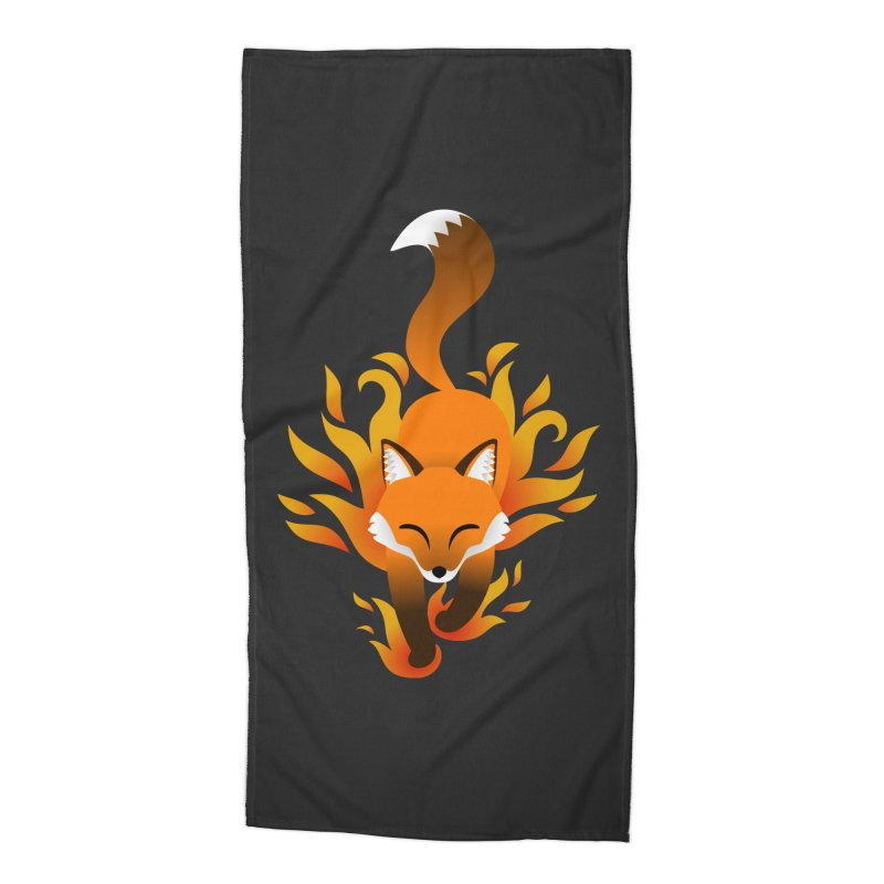Fire Fox Accessories Beach Towel by Designs by WoollyRex