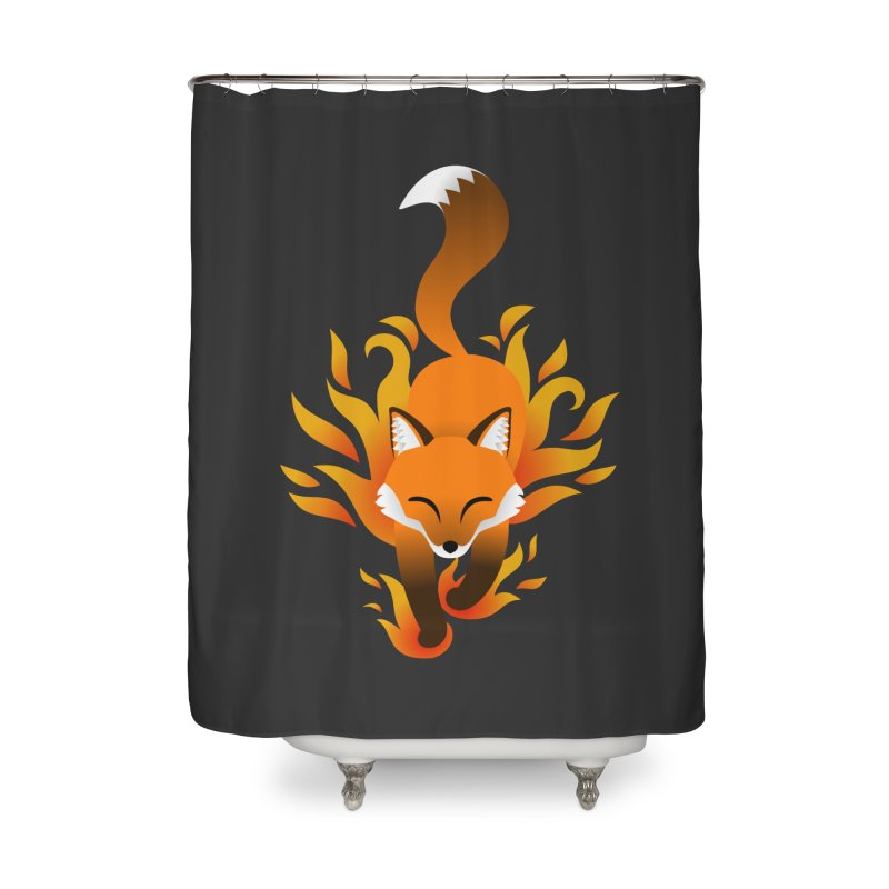 Fire Fox Home Shower Curtain by Designs by WoollyRex