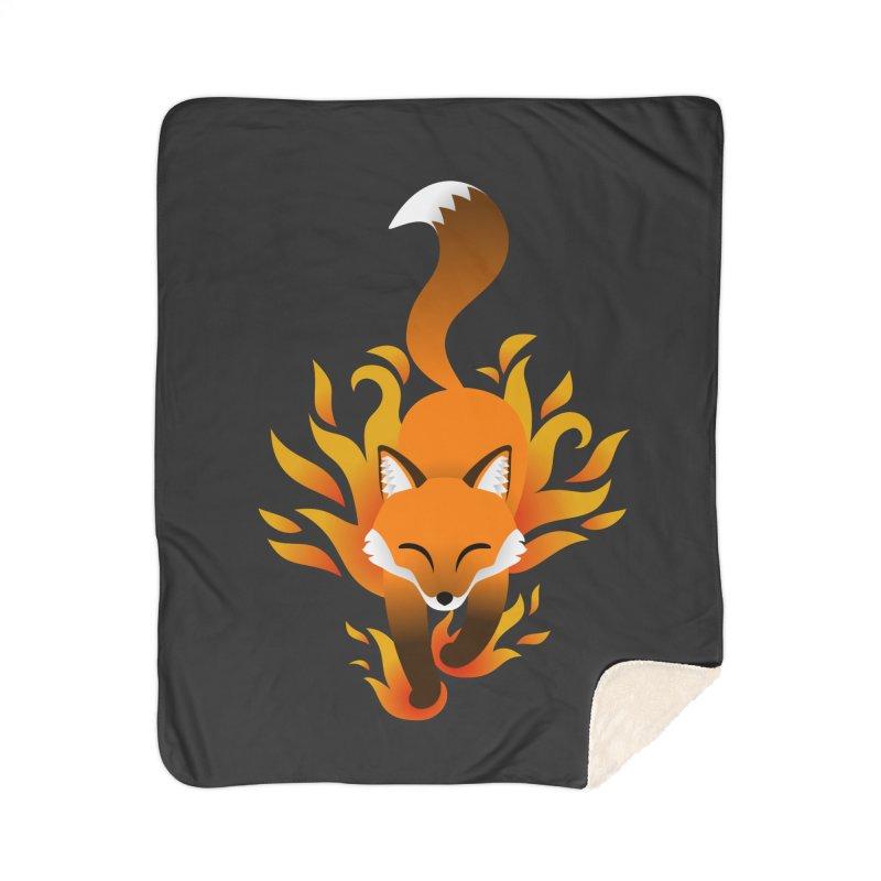 Fire Fox Home Sherpa Blanket Blanket by Designs by WoollyRex