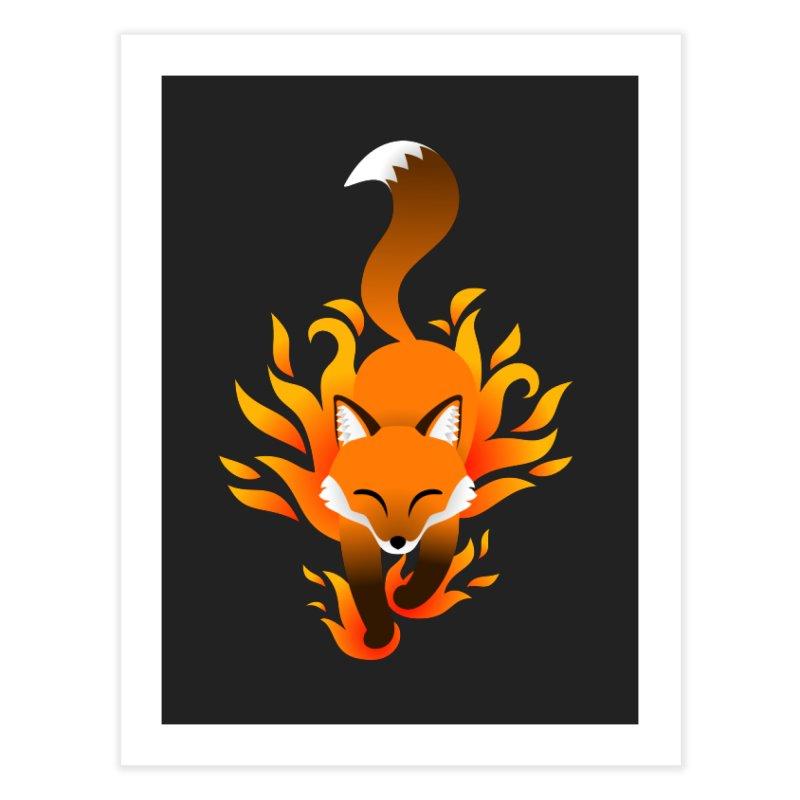 Fire Fox Home Fine Art Print by Designs by WoollyRex