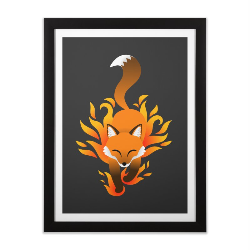 Fire Fox Home Framed Fine Art Print by Designs by WoollyRex