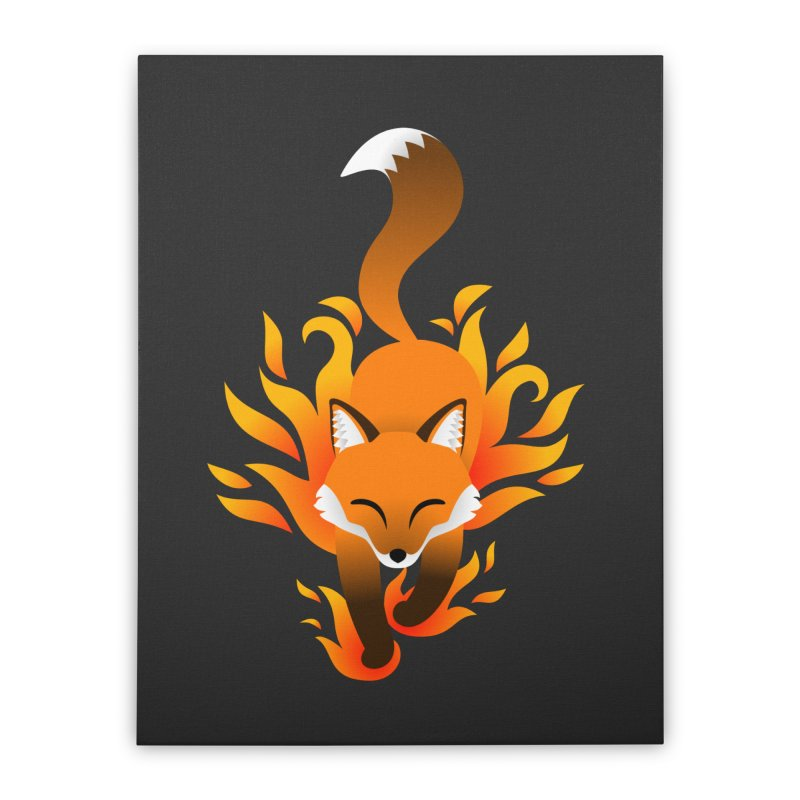 Fire Fox Home Stretched Canvas by Designs by WoollyRex