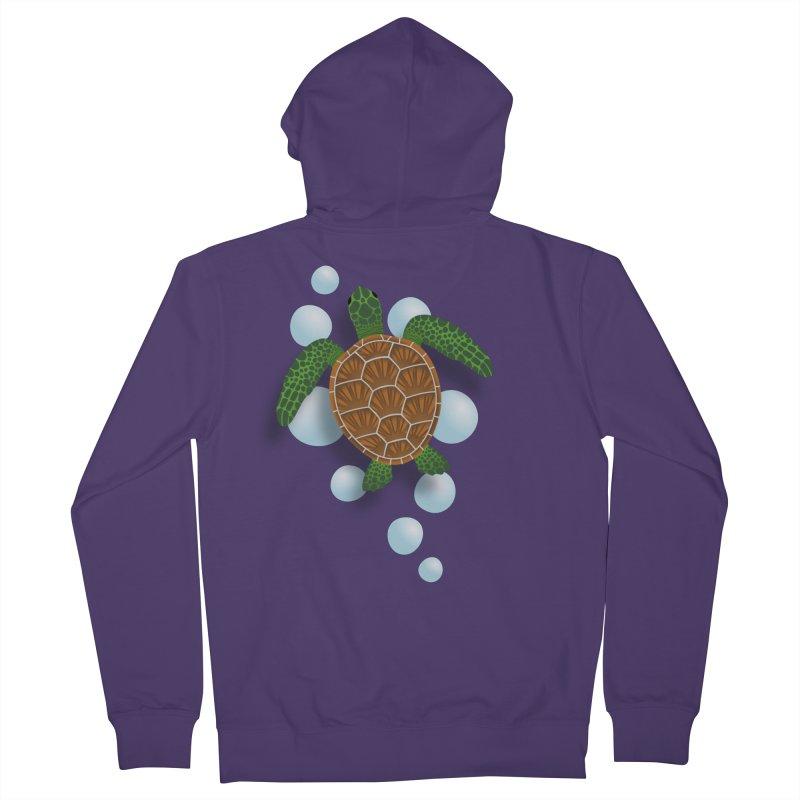 Sea Turtle Women's Zip-Up Hoody by Designs by WoollyRex