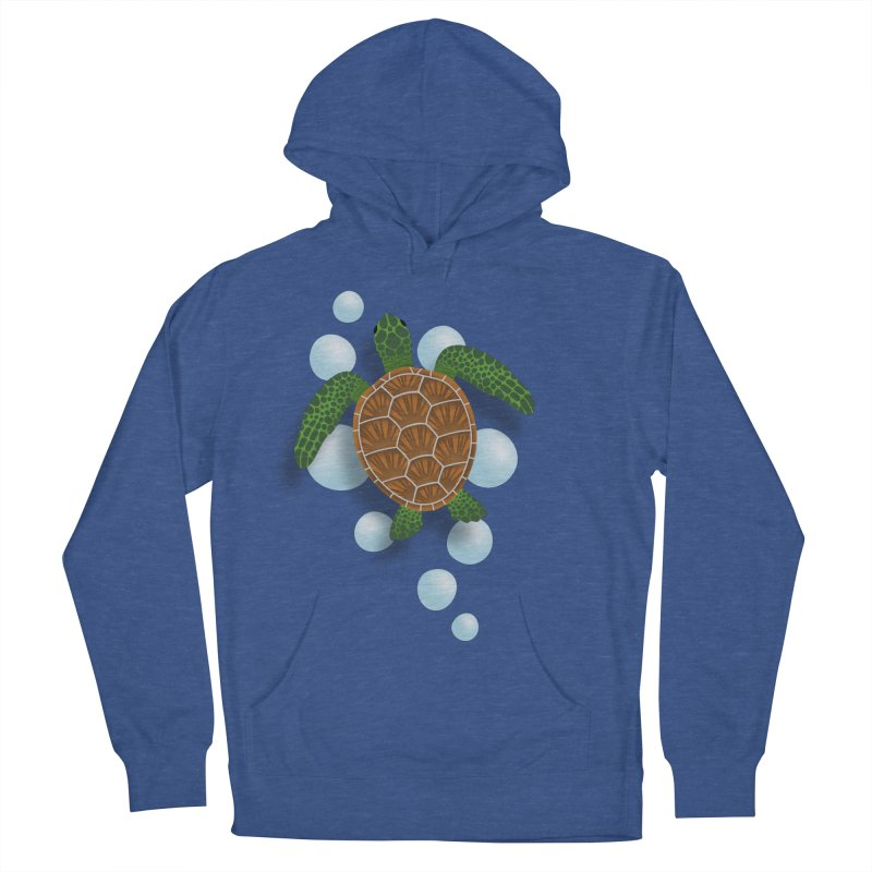 Sea Turtle Women's French Terry Pullover Hoody by Designs by WoollyRex