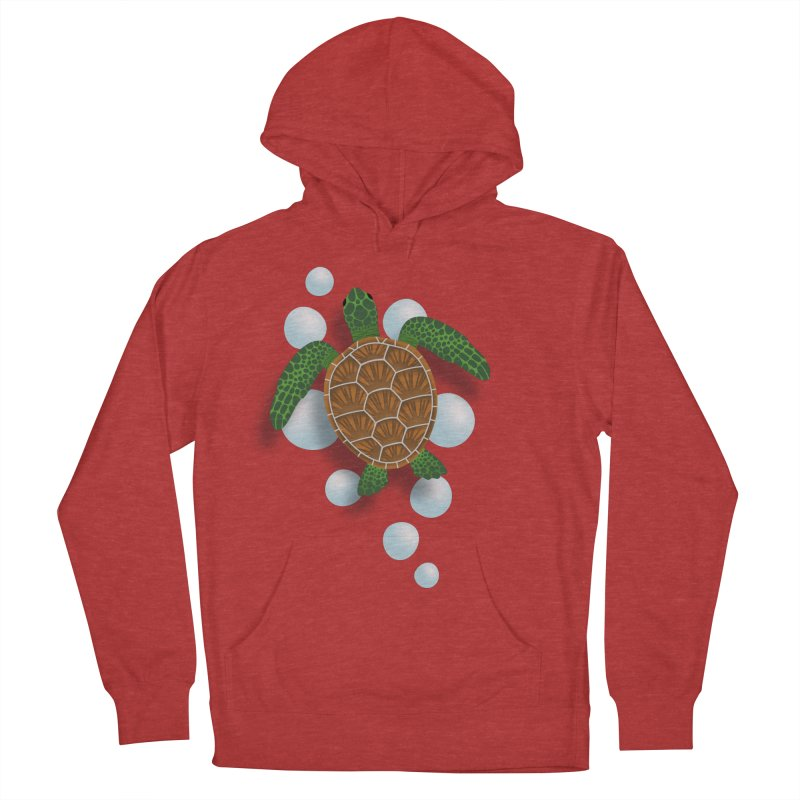 Sea Turtle Men's French Terry Pullover Hoody by Designs by WoollyRex