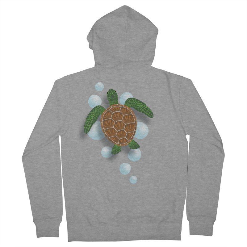 Sea Turtle Women's French Terry Zip-Up Hoody by Designs by WoollyRex