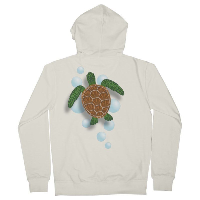 Sea Turtle Women's Zip-Up Hoody by Designs by WoollyRex