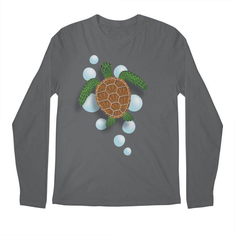 Sea Turtle Men's Longsleeve T-Shirt by Designs by WoollyRex