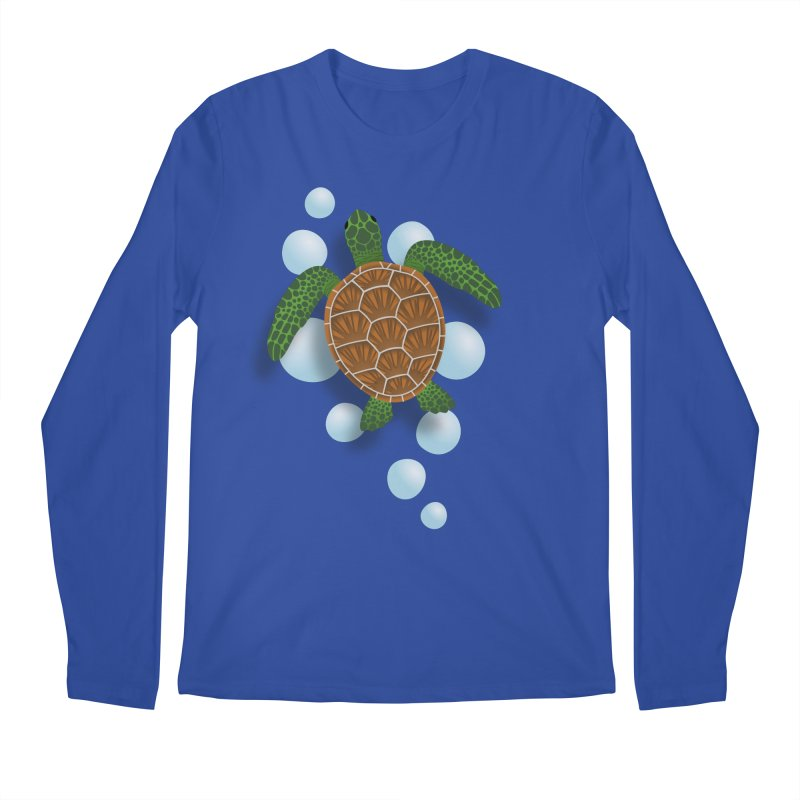 Sea Turtle Men's Regular Longsleeve T-Shirt by Designs by WoollyRex