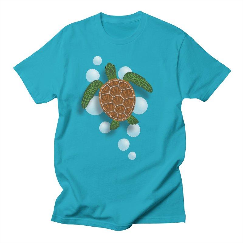 Sea Turtle Men's T-shirt by Designs by WoollyRex