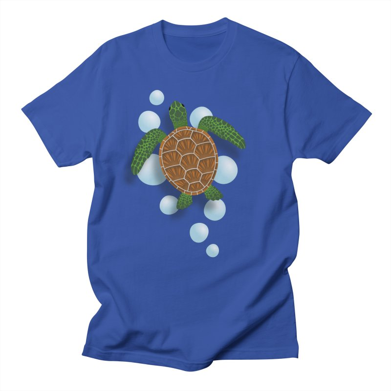 Sea Turtle Men's Regular T-Shirt by Designs by WoollyRex
