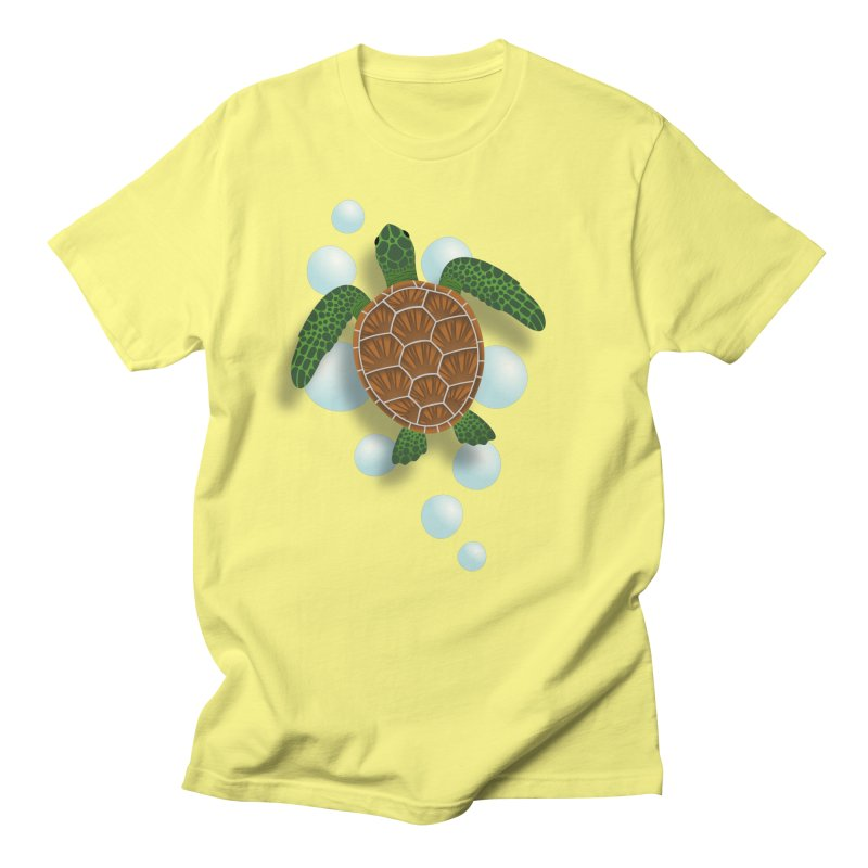 Sea Turtle Men's T-Shirt by Designs by WoollyRex