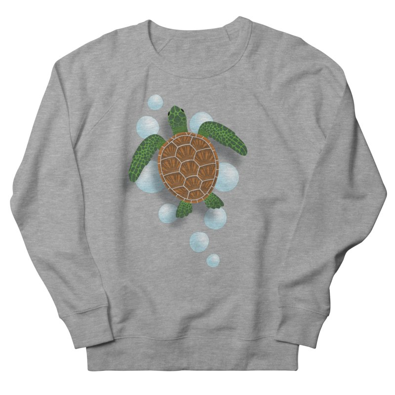 Sea Turtle Men's French Terry Sweatshirt by Designs by WoollyRex