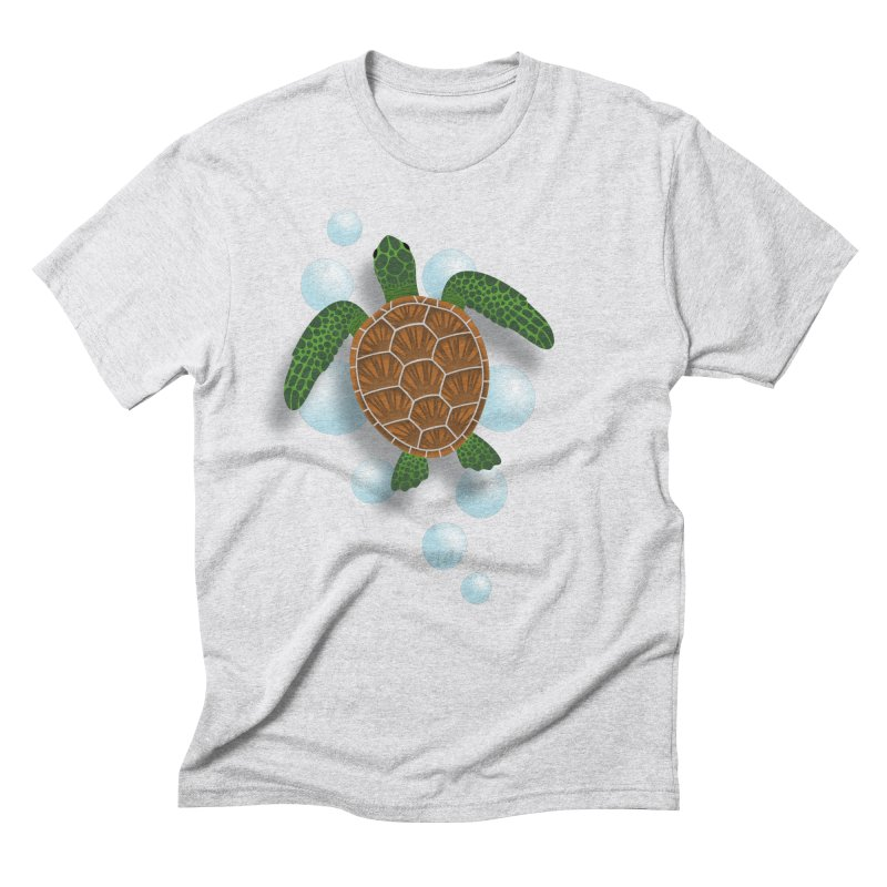 Sea Turtle Men's Triblend T-Shirt by Designs by WoollyRex