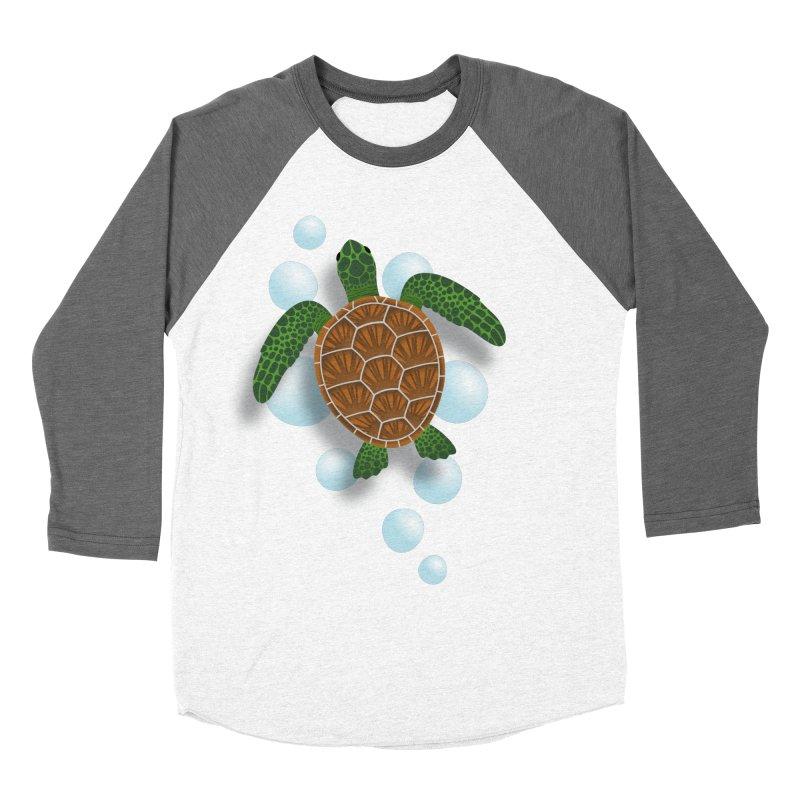 Sea Turtle Women's Baseball Triblend T-Shirt by Designs by WoollyRex