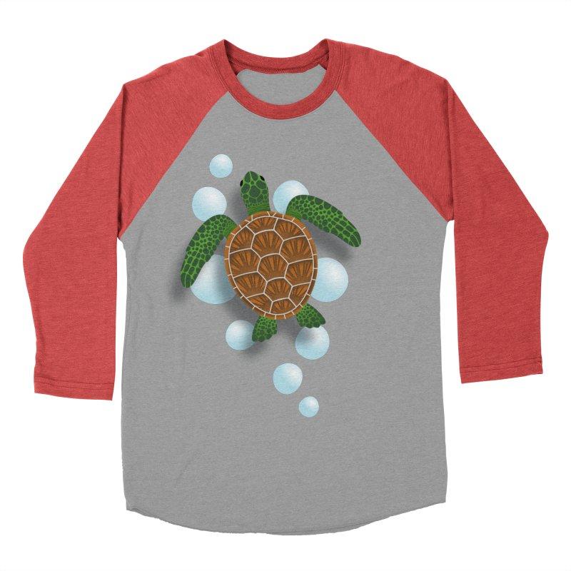 Sea Turtle Women's Baseball Triblend Longsleeve T-Shirt by Designs by WoollyRex