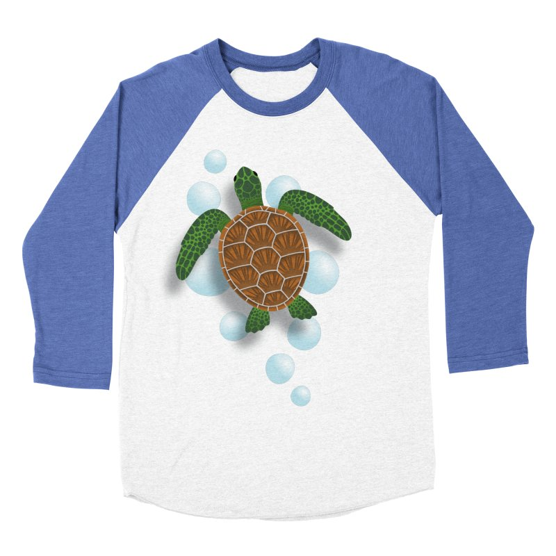 Sea Turtle Men's Baseball Triblend T-Shirt by Designs by WoollyRex