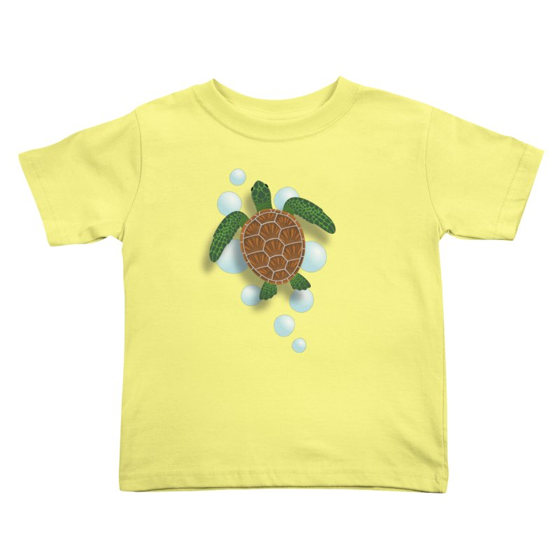 Sea Turtle Kids Toddler T-Shirt by Designs by WoollyRex