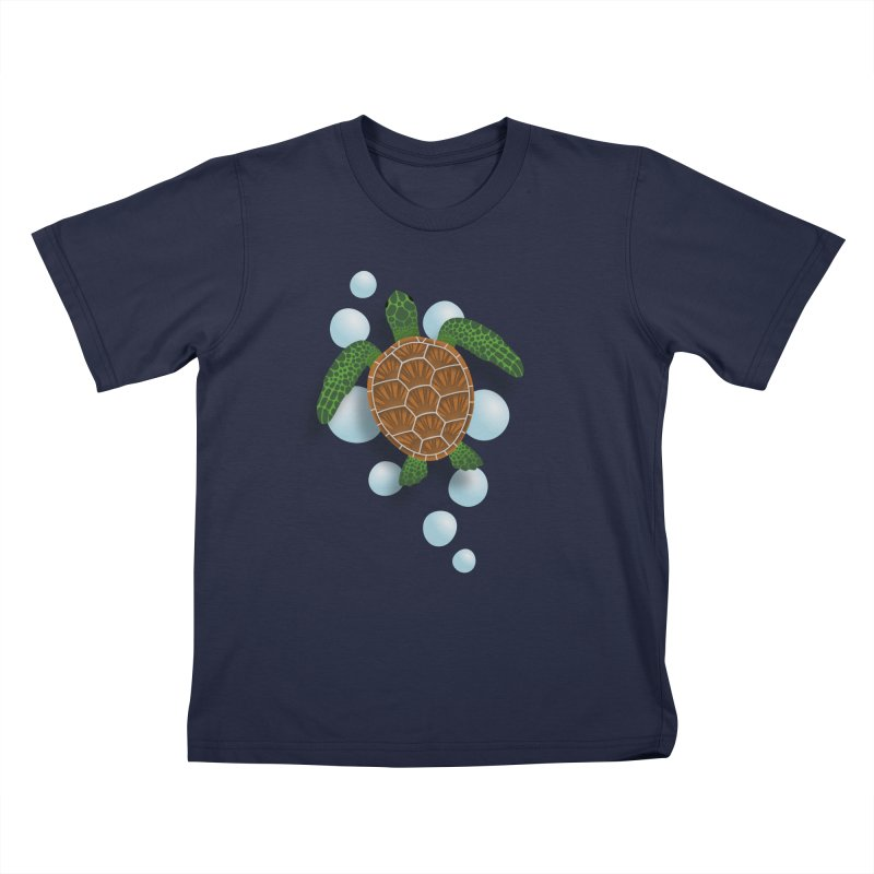 Sea Turtle Kids T-Shirt by Designs by WoollyRex