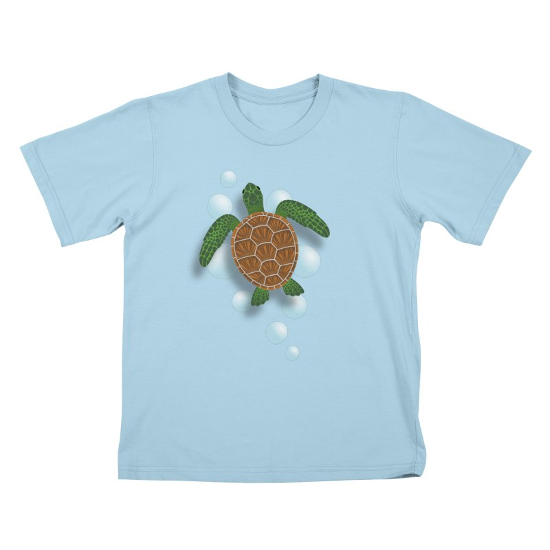 Sea Turtle Kids T-Shirt by Designs by WoollyRex