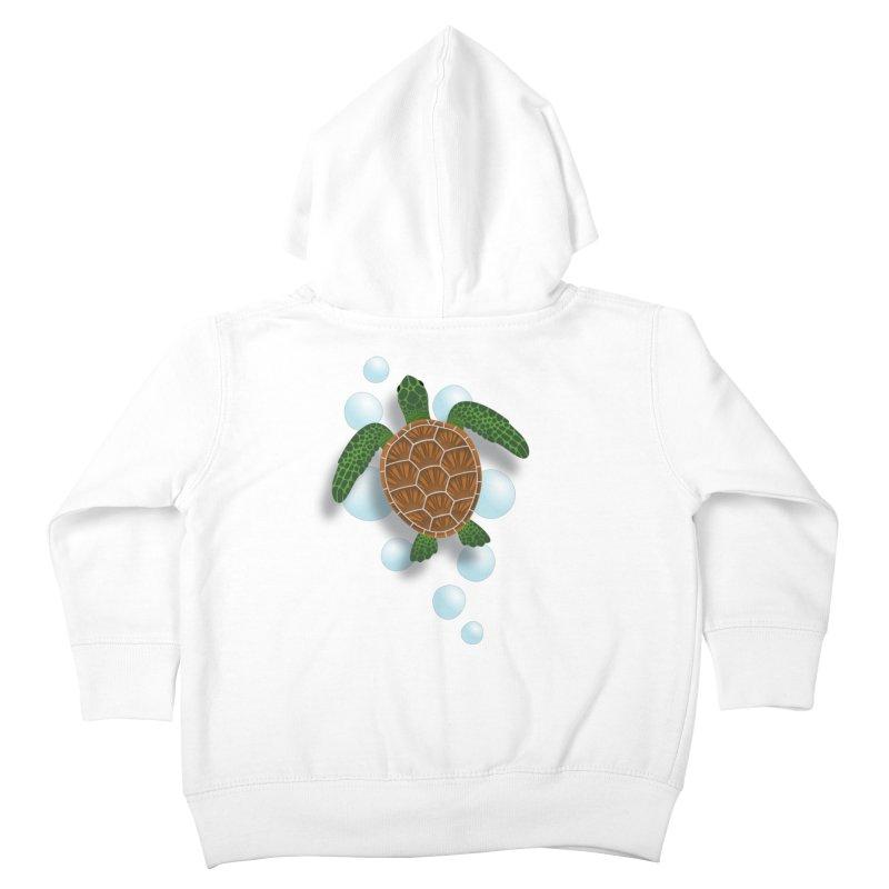 Sea Turtle Kids Toddler Zip-Up Hoody by Designs by WoollyRex
