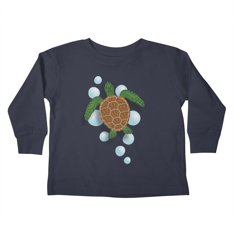 Sea Turtle Kids Toddler Longsleeve T-Shirt by Designs by WoollyRex