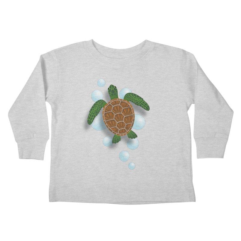 Sea Turtle Kids Toddler Longsleeve T-Shirt by Designs by WoollyRex