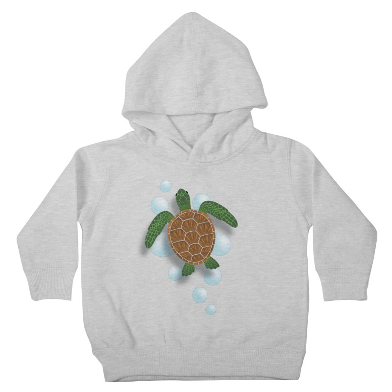 Sea Turtle Kids Toddler Pullover Hoody by Designs by WoollyRex