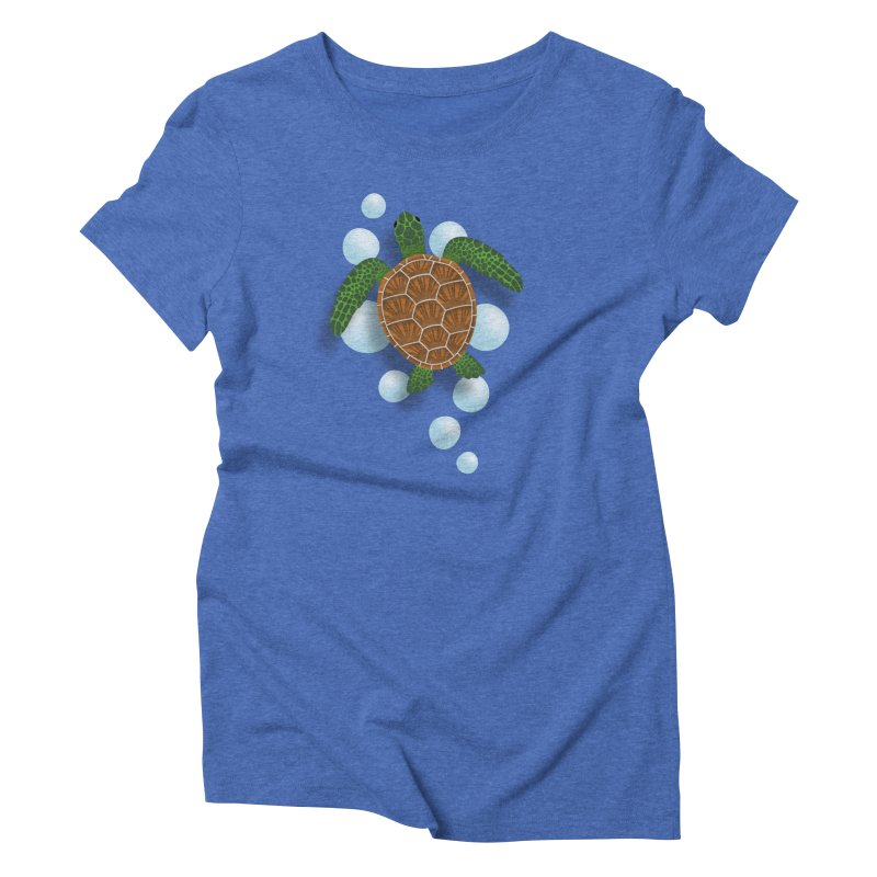 Sea Turtle Women's Triblend T-Shirt by Designs by WoollyRex
