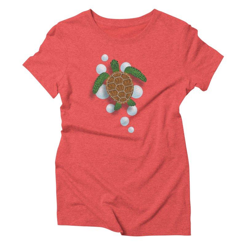 Sea Turtle Women's Triblend T-Shirt by Designs by WoollyRex