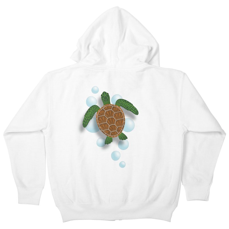 Sea Turtle Kids Zip-Up Hoody by Designs by WoollyRex