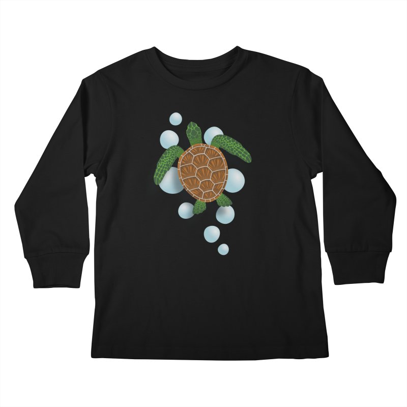 Sea Turtle Kids Longsleeve T-Shirt by Designs by WoollyRex