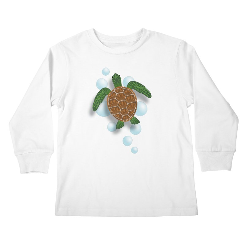Sea Turtle Kids Longsleeve T-Shirt by Designs by WoollyRex
