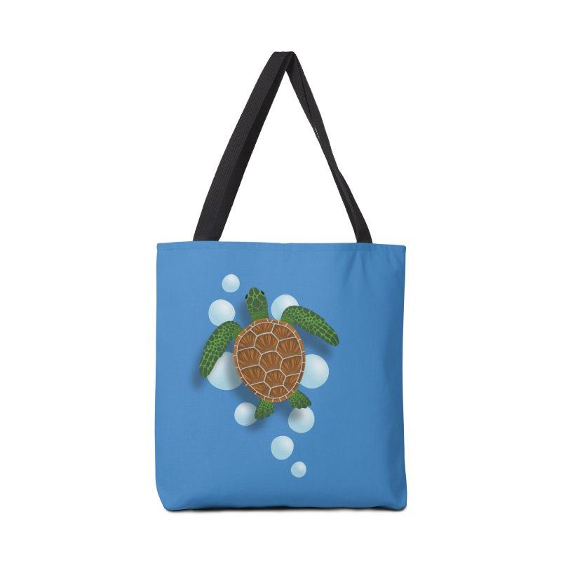 Sea Turtle Accessories Tote Bag Bag by Designs by WoollyRex