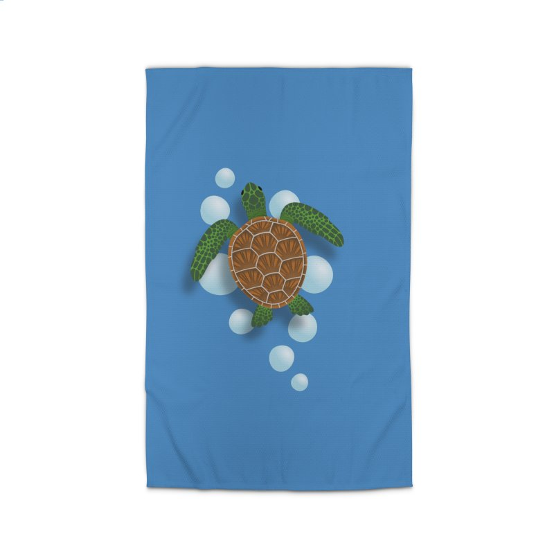 Sea Turtle Home Rug by Designs by WoollyRex