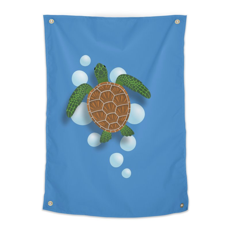 Sea Turtle Home Tapestry by Designs by WoollyRex