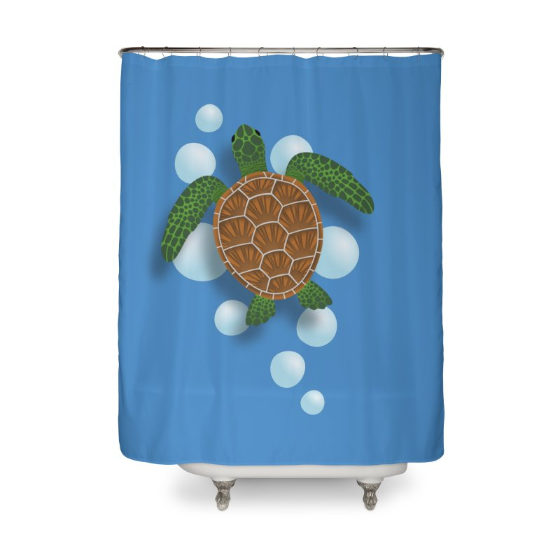 Sea Turtle Home Shower Curtain by Designs by WoollyRex