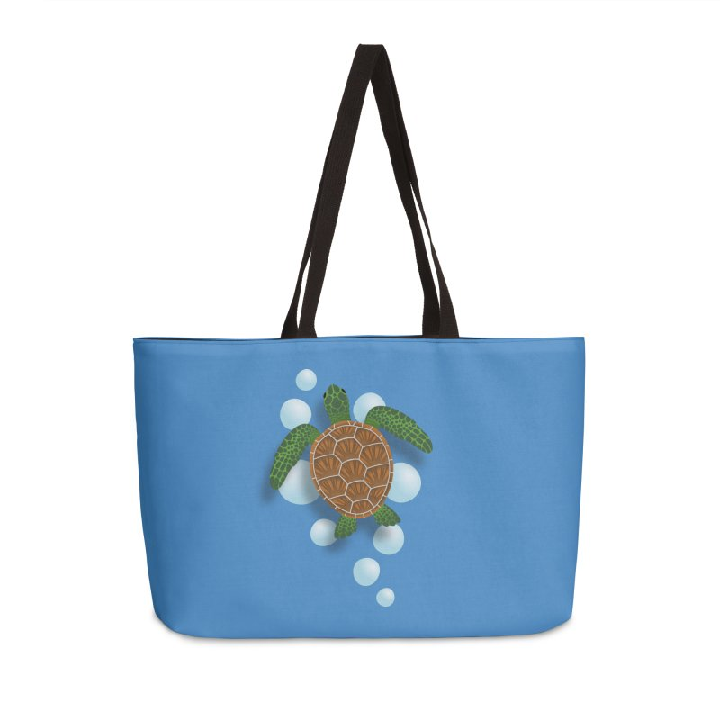 Sea Turtle Accessories Weekender Bag Bag by Designs by WoollyRex