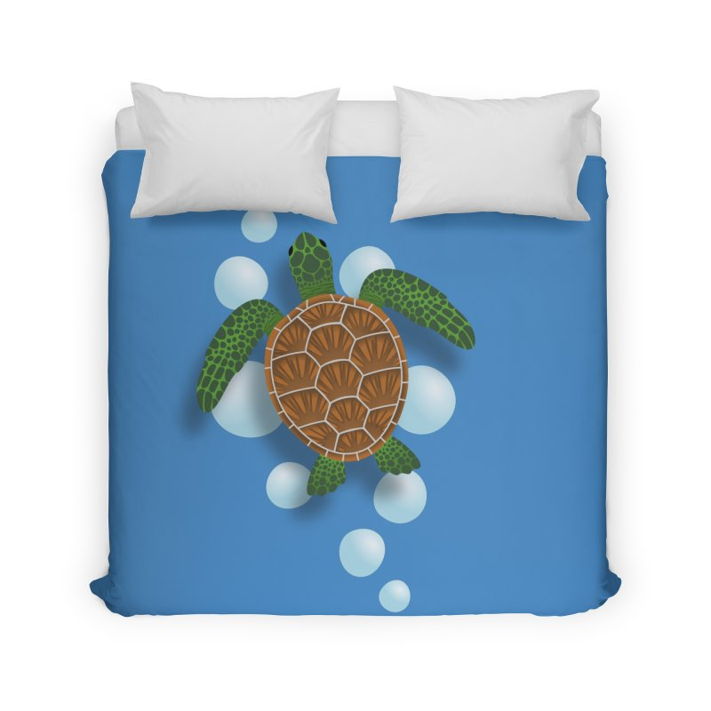 Sea Turtle Home Duvet by Designs by WoollyRex