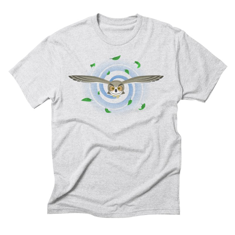 Wind Owl Men's T-Shirt by Designs by WoollyRex