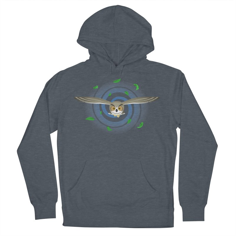 Wind Owl Men's French Terry Pullover Hoody by Designs by WoollyRex