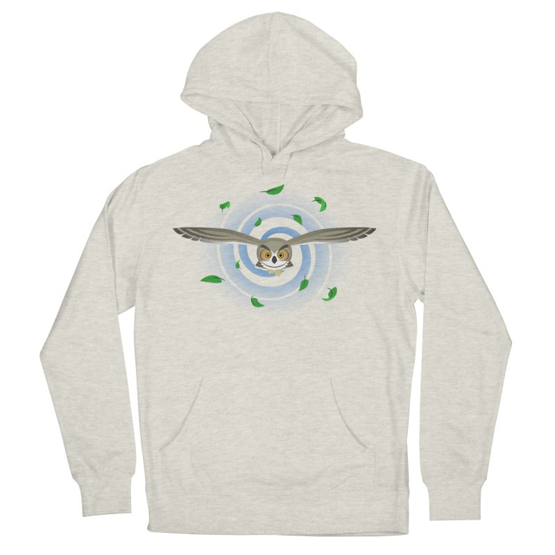 Wind Owl Men's Pullover Hoody by Designs by WoollyRex
