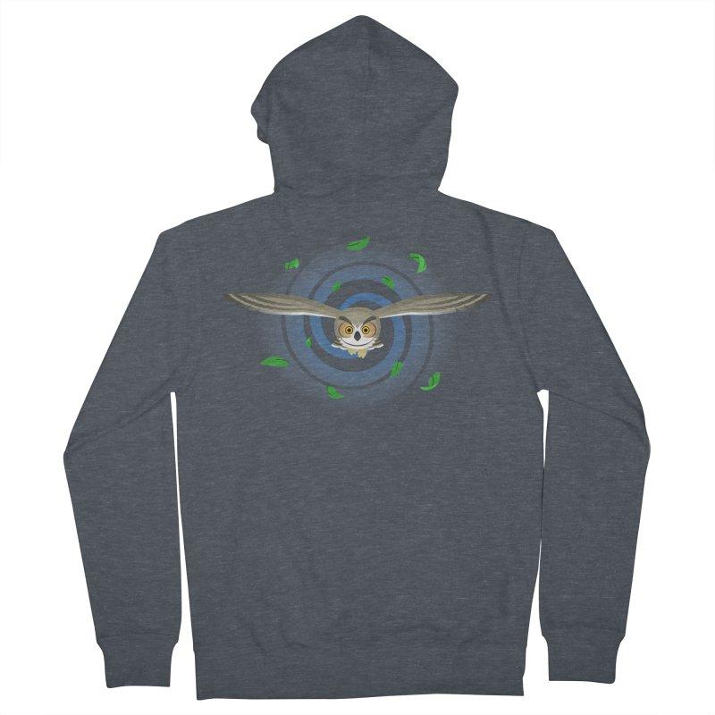 Wind Owl Men's Zip-Up Hoody by Designs by WoollyRex