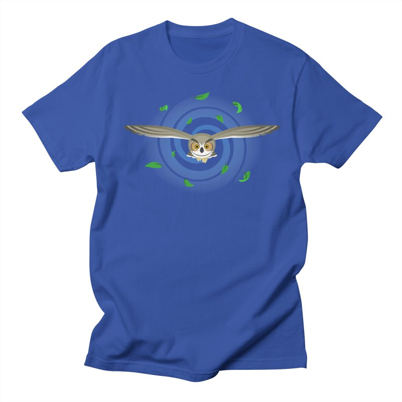 Wind Owl Men's T-shirt by Designs by WoollyRex