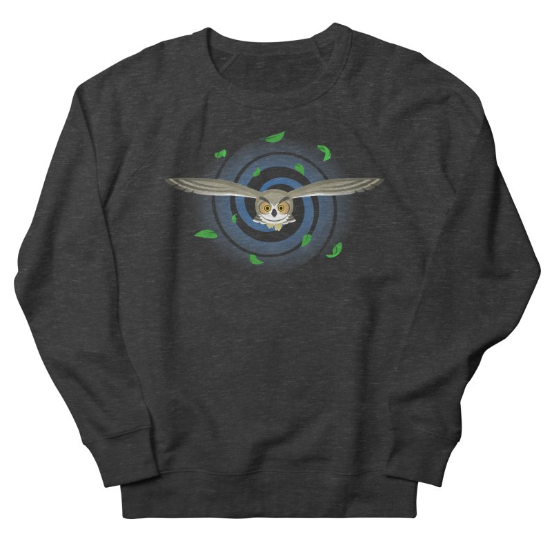 Wind Owl Women's French Terry Sweatshirt by Designs by WoollyRex