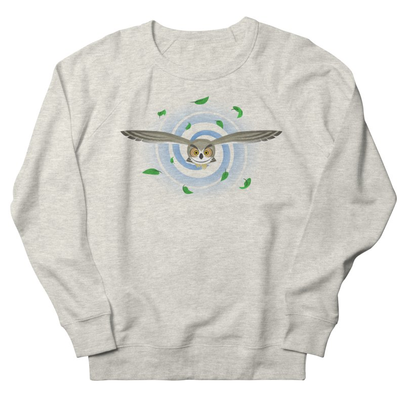 Wind Owl Men's French Terry Sweatshirt by Designs by WoollyRex