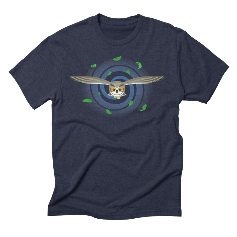 Wind Owl Men's Triblend T-Shirt by Designs by WoollyRex