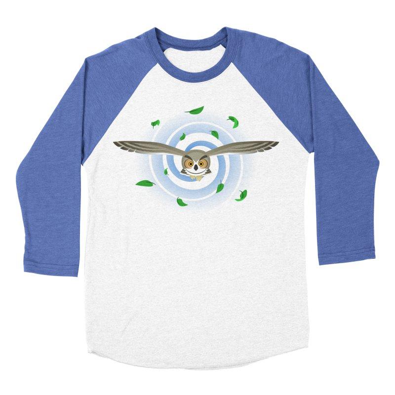 Wind Owl Men's Baseball Triblend T-Shirt by Designs by WoollyRex